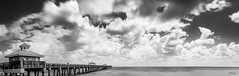 Juno Beach Pier Pano (srotag1973) Tags: juno beach pier blackandwhite black white bw longexposure slow shutter filter formatt hitech ocean clouds seascape cloudscape cloudsstormssunsetssunrises water florida