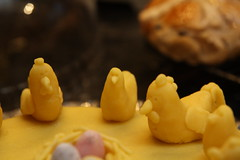 Simnel Cake with Chickens (captainmcdan) Tags: easter home 2017 april simnelcake chickens hotcrossbuns food marzipan sugarcraft