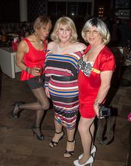 Three Sisters! (kaceycd) Tags: crossdress tg tgirl lycra spandex peplum minidress platino pantyhose pumps peeptoepumps opentoepumps anklestrappumps highheels stilettopumps stilettoheels sexypumps stilettos vanityclub vc vcgirls s