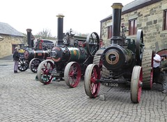 Morning Steamers (Terry Pinnegar Photography) Tags: beamish museum countydurham cobbles steam engine traction vintage rustonhornsby 161250 fw1509 robey 29333 wally ad9899 burrell validus 2819 bp5913 sentinel dg8