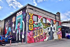 Murals on Augusta Avenue, Toronto, ON (Snuffy) Tags: streetartgallery augustaavenueandqueenstreetwest murals toronto ontario canada level1photographyforrecreation