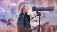 63+398: The girl with a telephoto smile (geemuses) Tags: photography manlybeach manly nsw 2017australianopenofsurfing surfing sea sand water ocean wetsuit beach surf lens sport actionsport telephotolens