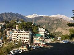 View from Dalai Lama's temple, Namgyal Monastery, Tsuglagkhang Complex, Dharamsala, India