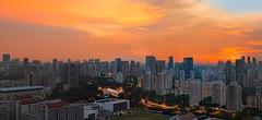 Emblazon (HakWee) Tags: singapore sunset architecture panorama hdb