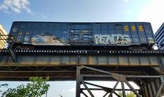 ELK & PENIS (BLACK VOMIT) Tags: graffiti elk el kamino elkamino penis dos dirty ol south boxcar box car freight train