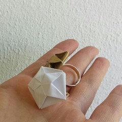 the rings (Dasssa) Tags: origami pentagon ring jewelry paperain dasaseverova paper