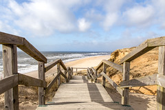 Stairway to Beach (lapideo) Tags: beach sea sky stairway sylt