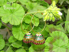 how to refashion your old jhumka earrings 8 (DIY Empress) Tags: diy earrings earringfashion fashion jhumka traditional ethnic beautiful tutorial howto blogger inspiration make diublogger diyjhumka girl girlboss happy colorful