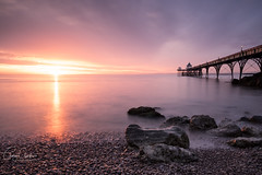 Simple Sunset (~g@ry~ (clevedon-clarks)) Tags: fuji fujinon 1855mm f28f4 longexposure sunset clevedon clevedonpier cloudmovement rocks beach coast coastal northsomerset somerset victorian victorianpier