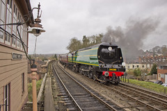 BOB no.34081 '92 Squadron' (alts1985) Tags: bob no34081 92 squadron bewdley viaduct signal box severn valley railway spring steam gala svr train worcestershire shropshire 170317 180317