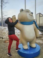 (ola_alexeeva) Tags: сочи розахутор роза хутор кавказ кавказские горы sochi mountains caucasian caucas russian girl russia bear