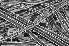 Traffic (laga2001) Tags: traffic infrastructure road street black white bw cars monochrome geometry structures urban city contrast skancheli