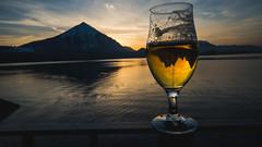Niesen, Thunersee, Beer (Fabio Stoll) Tags: niesen thunersee beer switzerland swissmountains alps alpen bier sunset stange niederhorn
