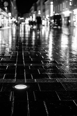 Mystery Night (mripp) Tags: regensburg ratisbonne bavaria bayern germany deutschland europe europa black white mono monochrom bokeh art kunst abstract night nacht urban city stadt cvintage old retro heritage streets strase leica m summicron 50mm