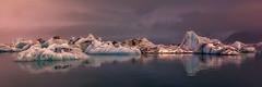 Jökulsárlón (pajavi69) Tags: iceland islandia jökulsárlón glacierlagoon glacier glaciar lagunaglaciar lagoon landscape waterscape water wild nikon nature nikkor1224 d710 frozen ice hielo paisaje panorama panoramica nieve atardecer sunset