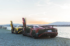 It's an SV thing (Beyond Speed) Tags: lamborghini aventador sv roadster supercar supercars car cars carspotting nikon v12 combo red yellow geneva geneva2017 carbon