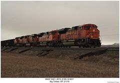 BNSF 8481, 9075, 6185 & 9027 (Robert W. Thomson) Tags: bnsf burlingtonnorthernsantafe emd ge diesel locomotive sixaxle sd70 sd70ace es44 es44ac gevo evolutionseries train trains trainengine bigtimber montana