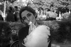 Cotton Candy (VincenzoGuasta) Tags: cotton candy zucchero filato bw black white bianco e nero sguardo viso occhi eyes