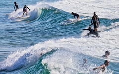 63+485: Riders on the foam (geemuses) Tags: manlybeach manly nsw sun sand sea surf beach wave waves foam lip surfing surfer surfers girls landscape photo canon
