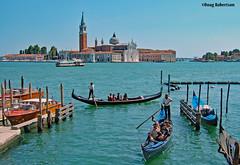 View towards San Giorgio Maggiore (DougRobertson) Tags: sangiorgiomaggiore venice italy gondola boat water