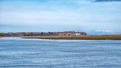 Down the Fraser River (Coral Norman) Tags: landscape sky delta ladner canada nikon d750 bc april spring fraser river buildings