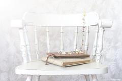 (CarolienCadoni..) Tags: sonyslta99 sal50f14 50mmf14 still stilllife flower books chair white bokeh dof