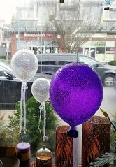 Window shopping... (Beeke...) Tags: shopwindow display glassart balloons blue street urban smalltown design craft