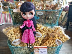 National Caramel Corn Day (US) for REALZ! (150 year history). ANNA loves caramel corn but shhh..she bought Rocky Road fudge instead. It doesn't get stuck in her teeth. Anna's wearing a new Barbie outfit including accessories.