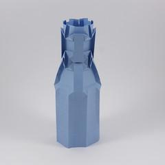 Thermos (Michał Kosmulski) Tags: origami thermos flask bottle dewarflask texture greeble michałkosmulski tantpaper blue
