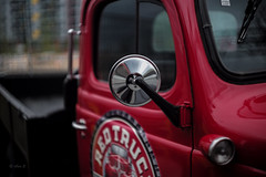 Red Truck (Photo Alan) Tags: stilllife red redtruck street streetphotography light vancouver canada leica50mmf15