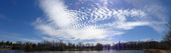 Spring sky over Willow Pond