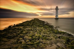 New Brighton lighthouse (paul blakeway) Tags: lighthouse newbrightonlighthouse longexposure sunset clouds sky coast seashore seascape seafront sea