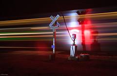 The Delhi Wig Wag at Night (bkays1381) Tags: colorado delhicolorado wigwag magneticflagman amtrak southwestchief amtrak4 night gradecrossing järnväg railroad
