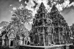 Bantheay Srei (Uwe Printz) Tags: q bw temple angkor leica bantheay srei travel kambodscha pink architecture khmer cambodia 20160101 siem reap lady bantheaysrei ladytemple leicaq pinktemple siemreap