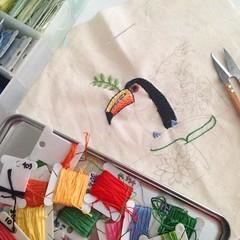 Tucano (Carol Grilo • FofysFactory®) Tags: bordado embroidery bird ave toucan tucano handmade craft brasil fofysfactory carolgrilo