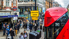Diversion Ends (Gordon McCallum) Tags: bondstreet bondstreetstation underground londonbus doubledeckerbus streetscene redbus 390 diversionends people sony sonya6000 sigmalens