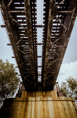 Railways (alexjove1b) Tags: outdoors train railroad bridge concrete warm detail crisp grade wide angle wideangle tokina zoom nikon d800 city urban dallas grunge grungy rustic brown