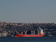 Container ship, 'King Basil', Gulf of Izmir, Turkey (Steve Hobson) Tags: container ship gulf izmir turkey king basil körfez