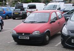 Vauxhall Corsa 1.2 Merit Auto (occama) Tags: n109kcv vauxhall corsa 12 merit automatic 1996 old red cornish reg cornwall uk opel
