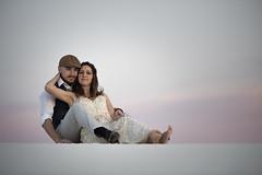 White Sands Wedding Portrait (Mitch Tillison Photography) Tags: whitesands nationalmonument wedding portrait bride groom outdoors godox couple love loving amazing beautiful sunset nikond810 tamron70200