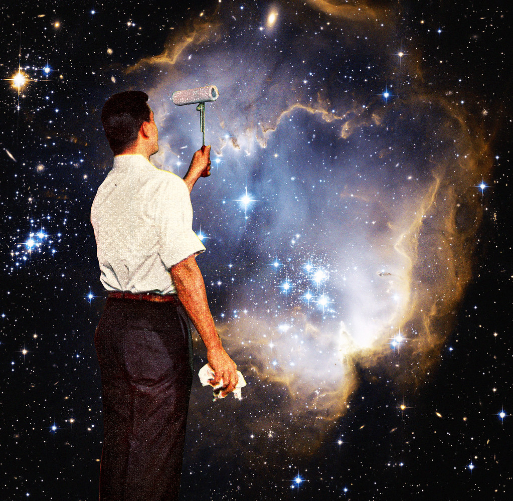 Rare Wonderful 1950s Space Art: The World's Most Recently Posted Photos Of Collage And