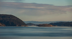 Inlet to Oslo. (Johnny H G) Tags: inlet fjord mountain nature clouds sunrice landscape outdoors norway norge colorful canon eos view oslo