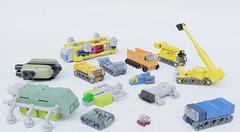 Vehicle stuff (Sunder_59) Tags: moc lego blender3d render mecabricks micro vehicle scifi aviation starship spaceship space car truck crane