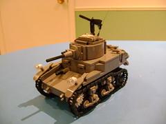 Custom Lego Stuart M3A1 2nd Prototype (tekmoc17) Tags: lego ww2 stuart m3a1 tank usa moc custom war