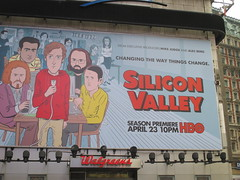 Silicon Valley HBO Show Billboard Times Square NYC 4649 (Brechtbug) Tags: silicon valley hbo show bus billboard springtime new york 2017 april 04202017 taxi cab sunny 42nd street 7th ave number one times square nyc pedestrians avenue st commuting shows billboards graphic novel artist daniel clowes illustration looks great art technology fueling station electricity power cartoon caricature cartoons