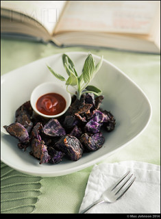 Roasted Purple Potatoes With Sage