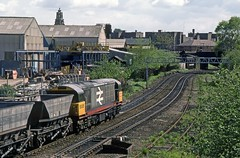 Ryecroft Junction, Walsall, May 1986 (David Rostance) Tags: coal walsall blackcountry class58 58005 ryecroft