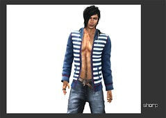 "sharp by [ZD] - Mesh ""Alex"" Open Hoodie (shine & sharp by [ZD]) Tags: life urban man male men alex fashion by demo hoodie sweater cool shine open dress place mesh market stripes sharp sl jacket dresses second mann marketplace mp mode striped männer jacke streifen kleidung menswear gestreift kleid männlich offen zd inworld zddesign"