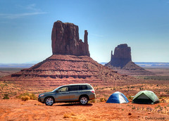 Love It! A Campsite With A View [Explored] (zendt66) Tags: camping camp southwest nikon butte view united highlander tent loveit toyota theme states monumentvalley weekly challenge hdr mittens greatview d90 photomatix photomatrix 52weeks2014