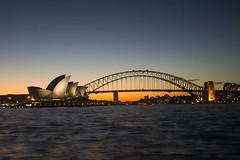 Sydney Harbour Sunset 24/4/14 (Kieran Wells Photography) Tags: bridge sunset sky house water evening harbor opera harbour sydney australia